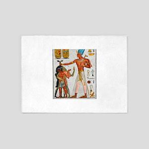 Ramesses Smiting Enemies 5'x7'Area Rug