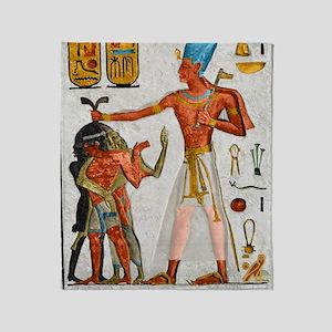 Ramesses Smiting Enemies Throw Blanket