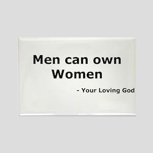 Men Own Women Rectangle Magnet