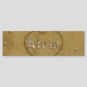 Alvin Beach Love Sticker (Bumper)