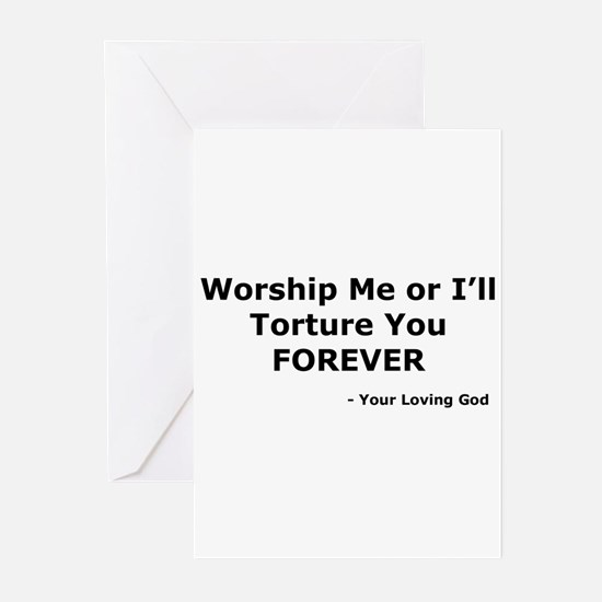 Worship me or else Greeting Cards (Pk of 10)