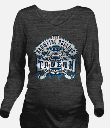 Brawling Bulldog Tavern Long Sleeve Maternity T-Sh