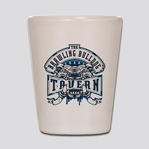 Brawling Bulldog Tavern Shot Glass