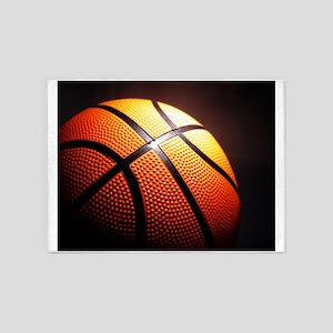 Basketball Ball 5'x7'Area Rug