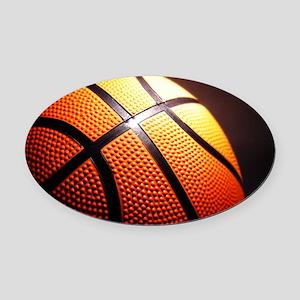 Basketball Ball Oval Car Magnet