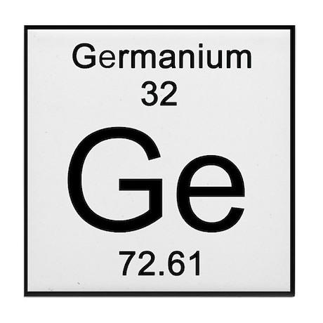 32 Germanium Tile Coaster By Sciencelady