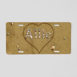 Allie Beach Love Aluminum License Plate