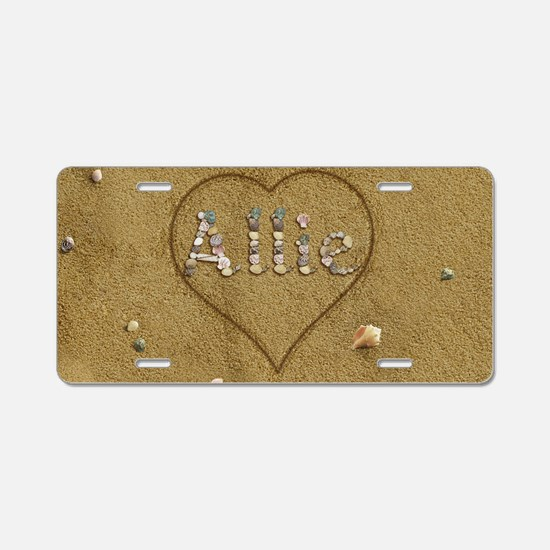 Allie Beach Love Aluminum License Plate