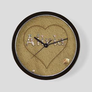 Alivia Beach Love Wall Clock