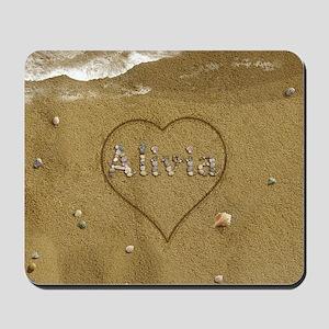 Alivia Beach Love Mousepad