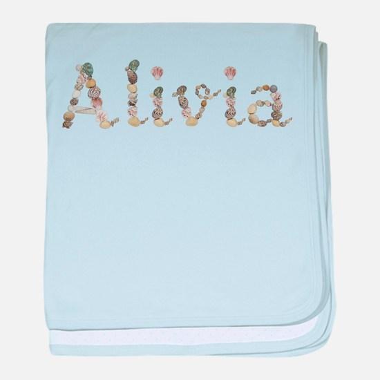 Alivia Seashells baby blanket