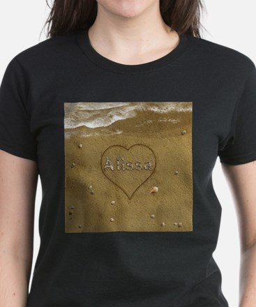 Alissa Beach Love Women's Dark T-Shirt