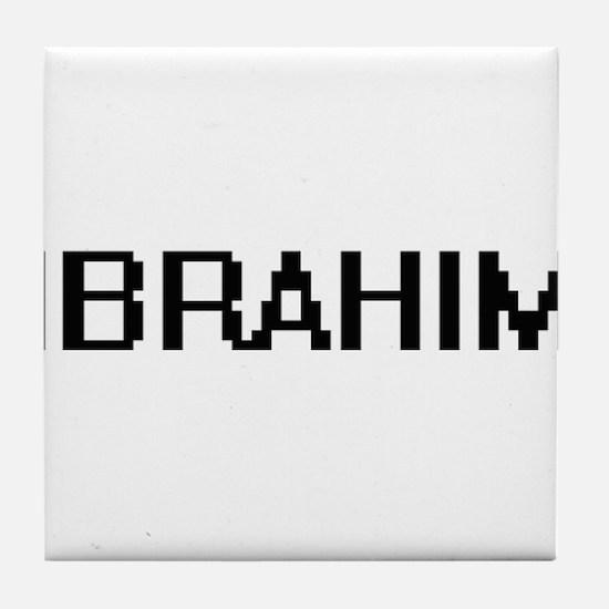 Ibrahim Digital Name Design Tile Coaster