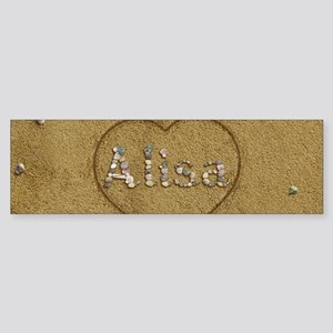 Alisa Beach Love Sticker (Bumper)