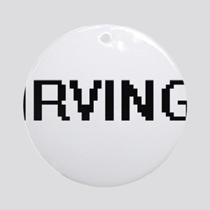 Irving Digital Name Design Ornament (Round)
