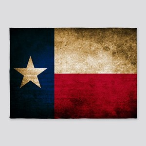 Vintage Flag of Texas 5'x7'Area Rug