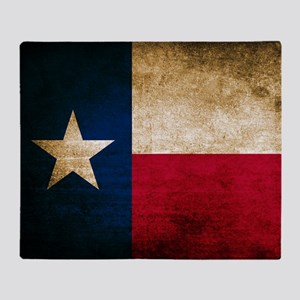 Vintage Flag of Texas Throw Blanket