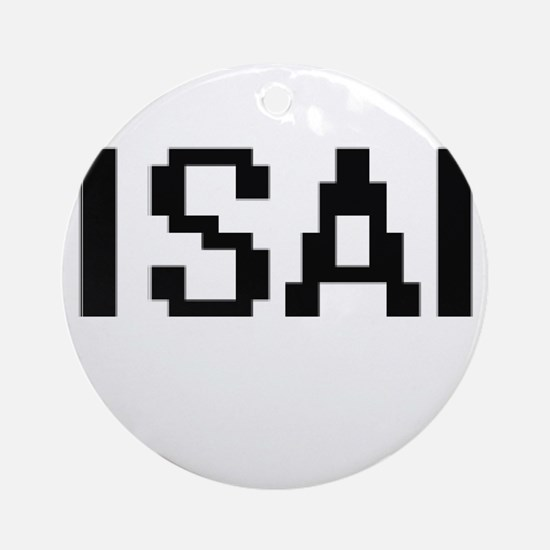 Isai Digital Name Design Ornament (Round)