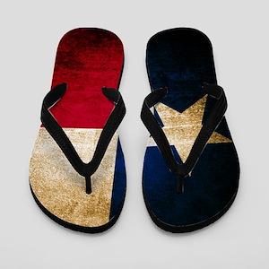 Vintage Flag of Texas Flip Flops