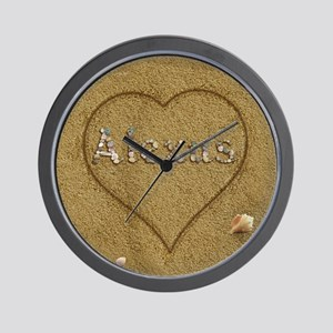 Alexus Beach Love Wall Clock