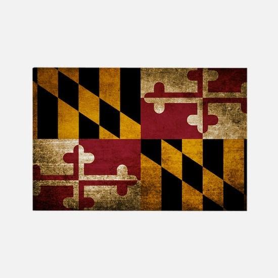 Funny Maryland flag Rectangle Magnet
