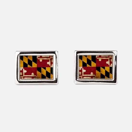 Funny Maryland flag Rectangular Cufflinks
