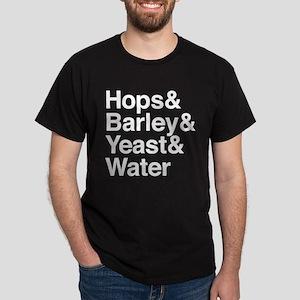 Hops Barley Yeast Water Dark T-Shirt
