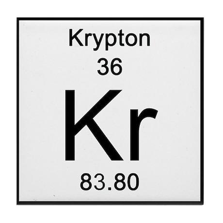 36 Krypton Tile Coaster By Sciencelady