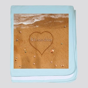 Alexandria Beach Love baby blanket