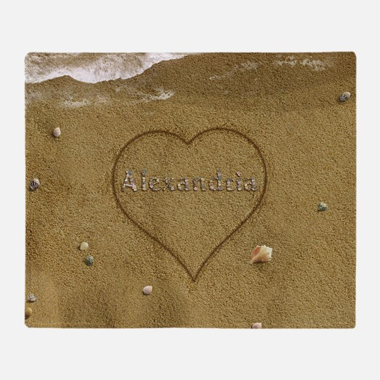 Alexandria Beach Love Throw Blanket