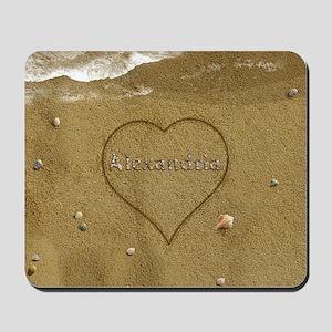 Alexandria Beach Love Mousepad