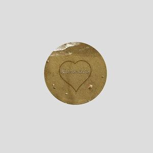 Alexandria Beach Love Mini Button