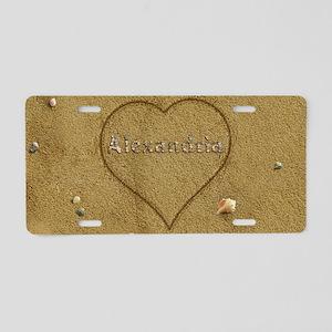 Alexandria Beach Love Aluminum License Plate
