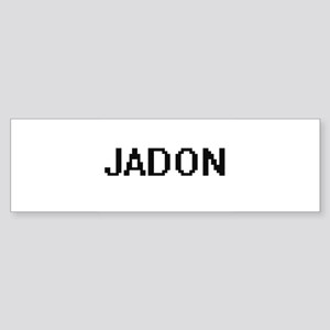 Jadon Digital Name Design Bumper Sticker