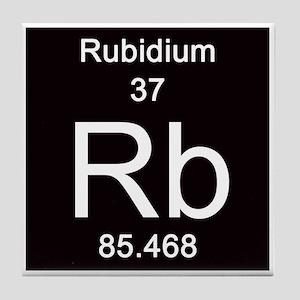 Periodic table rubidium hobbies gifts cafepress periodic table rubidium hobbies 37 rubidium tile coaster urtaz Image collections