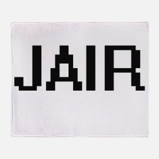 Jair Digital Name Design Throw Blanket