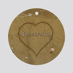 Alessandra Beach Love Ornament (Round)