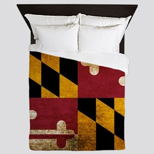 Vintage Flag of Maryland Queen Duvet