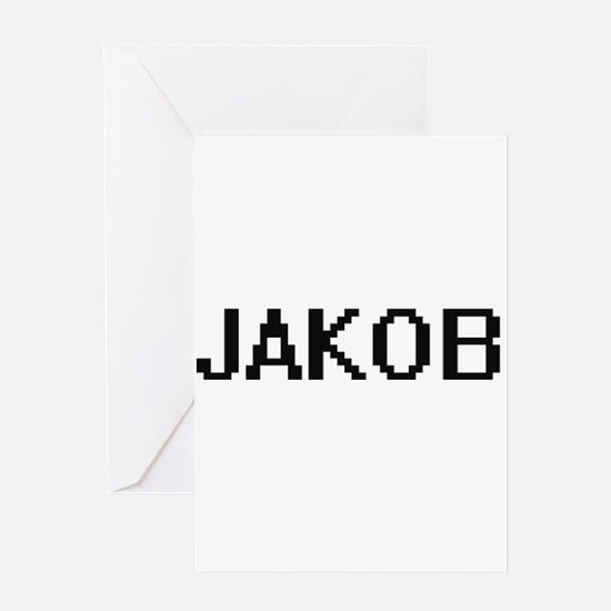 Jakob Digital Name Design Greeting Cards