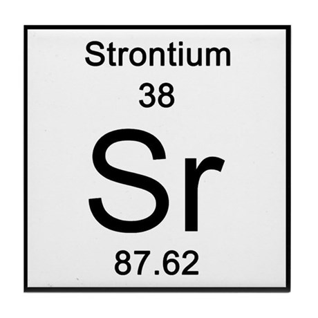 38 Strontium Tile Coaster By Sciencelady