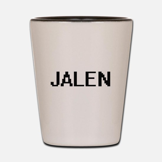 Jalen Digital Name Design Shot Glass