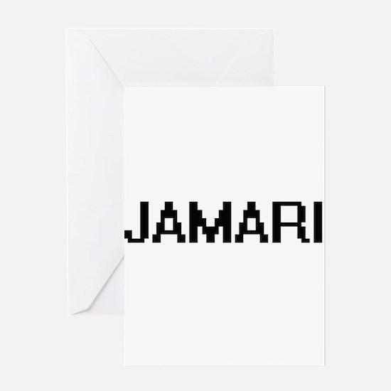 Jamari Digital Name Design Greeting Cards