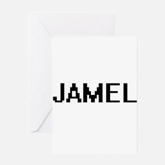 Jamel Digital Name Design Greeting Cards