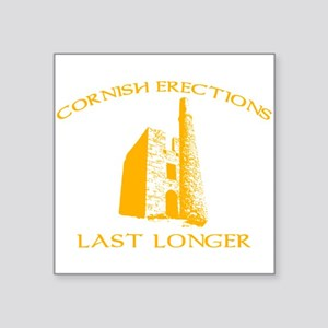 "Cornish Last Longer Square Sticker 3"" x 3"""