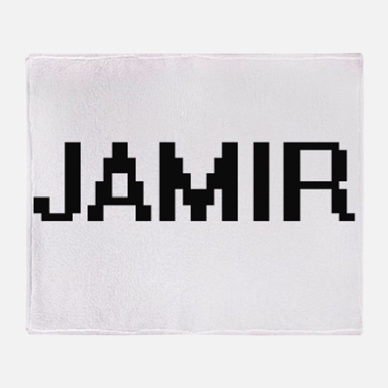 Jamir Digital Name Design Throw Blanket
