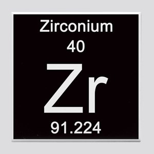 zirconium tile coaster - Periodic Table Zr