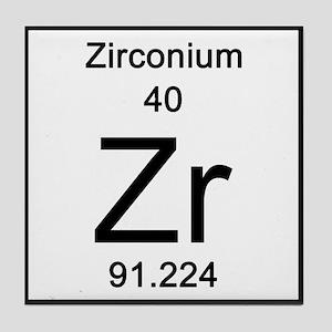 Periodic table elements coasters cafepress zirconium tile coaster urtaz Images