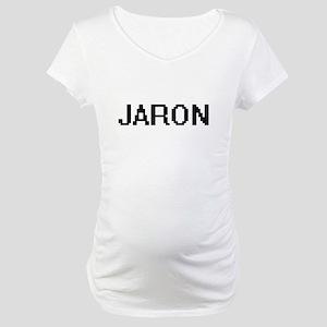 Jaron Digital Name Design Maternity T-Shirt