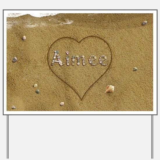 Aimee Beach Love Yard Sign