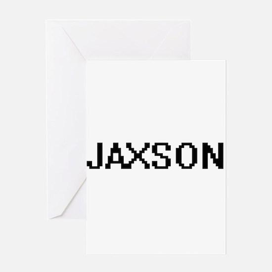 Jaxson Digital Name Design Greeting Cards